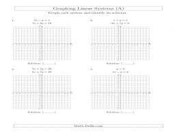 systems equations graphing worksheet solve systems linear equationsgraphing standard a