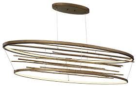 bobina bamboo large oval led chandelier