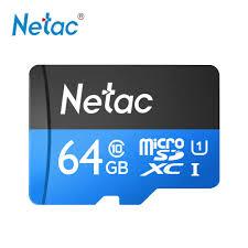 Netac P500 Class 10 64G Micro SDXC TF Thẻ Nhớ Lưu Trữ Dữ Liệu Tốc Độ Cao  Lên Đến 80 MB/giây|Thẻ Micro SD
