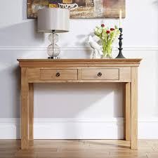 mobel solid oak console. Breton Solid Oak 2 Drawer Console Table Mobel .