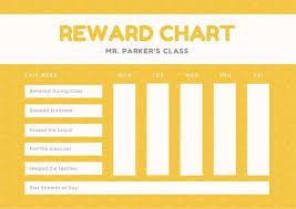 Star Student Chart Yellow Star Pattern Classroom Reward Chart Templates By Canva