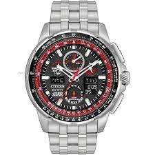 "citizen watches men s ladies eco drive watch shop comâ""¢ mens citizen skyhawk a t red arrows alarm chronograph radio controlled eco drive watch jy8059"