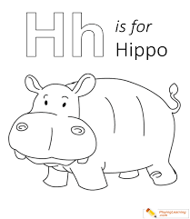 H Is For Hippo Coloring Page Free H Is For Hippo Coloring Page
