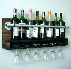 wine glass holder shelf floating rack wall hanging for bottles