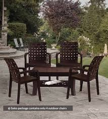 luxury plastic chair set of 4 in