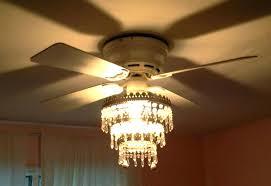 ceiling fan chandelier combo image of crystal diy
