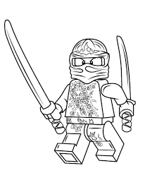 Printable Lego Ninjago Coloring Pages Black And White Super