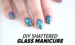 DIY Shattered Glass Nail Art Tutorial | Beauty Junkie - YouTube