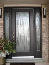 Front Door Stained And Trimmed  House UpdatedGlass Front Doors