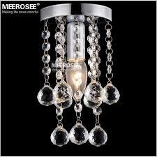 5 inch crystal chandelier light fitting flush mounted re lamp crystal light for aisle hallway porch corridor staircase md12120