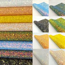 details about chunky glitter fabric hologram sparkle faux leather craft material bows decor