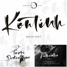 Latest Design Fonts Free Download Kontinth Brush Font Free Download