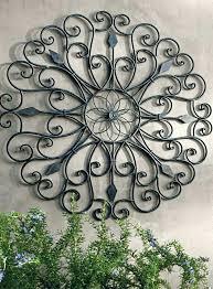 large outdoor metal wall art sun