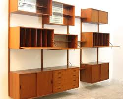 danish modular teak wall unit by poul