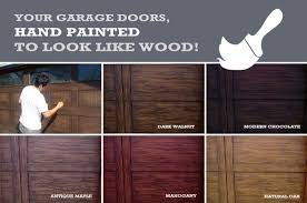 painted wood garage door. Get Your Garage Door Hand Painted To Look Like Wood! So Many Colors  Choose From! @unrealgaragedoors Are The Best! Wood O