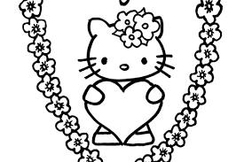 Kleurplaat Hartjes Bloemen