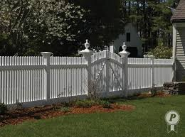 Plain Vinyl Privacy Fence Ideas Finials Adorn Capped Posts On
