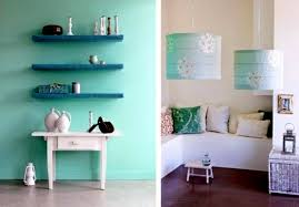 ... Wandgestaltung - Wall color mint green gives your living room a magical  flair