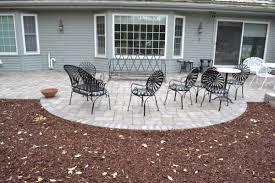 paver patio installation landscape