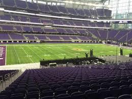 New Minnesota Vikings Stadium Seating Chart U S Bank Stadium Section 112 Row 34 Seat 25 Home Of