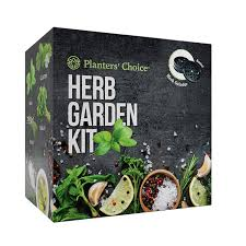 planters choice organic herb growing kit herb grinder complete kit to easily grow 4 herbs from seed basil cilantro chives parsley with