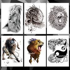 5381 руб 20 скидкаводостойкая временная татуировка наклейка животное лев шаблон
