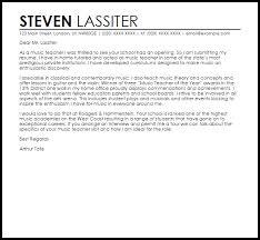 Music Teacher Cover Letter Sample Cover Letter Templates