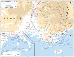 map of wwii southern france august