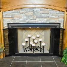 interesting 10 candle imperial fireplace candelabra with stone wall and tile floor for home decoration ideas