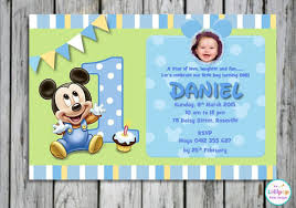 Birthday Invitation Card Templates Free Download Mesmerizing 48 Mickey Mouse Invitation Template Free Premium Templates