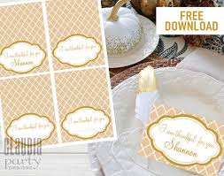 thanksgiving place cards name tags holiday tags gold elegant diy