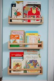 Repurposing spice racks into children's bookshelves