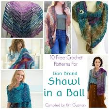 Lion Brand Free Crochet Patterns Unique Link Blast 48 Free Crochet Patterns For Lion Brand Shawl In A Ball