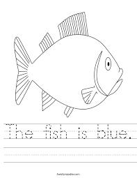 Fish Worksheet Worksheets