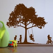 kids in the backyard wall decals