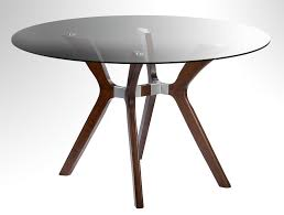 glass top dining table round tables regarding ideas 8