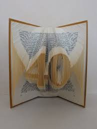 the folded book page folded book art custom order