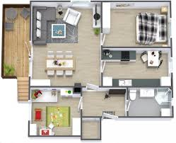 Simple Two Bedroom House Plan   Interior Design Ideas Ideal for a small family  this simple two bedroom house plan can incorporate just enough