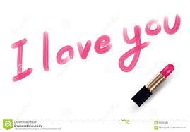 i love you text write by lipstick pink color stock vector ilration of beautiful