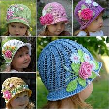 Free Crochet Hat Patterns For Toddlers Extraordinary Crochet Panama Hat For Girls [Free Pattern And Video Tutorial]