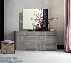 futura modern double chest of drawers in grey saw marked oak effect finish thumbnail modern futura bedroom
