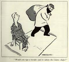 cartoon taken from general accident s staff published in 1954