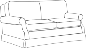 couch clipart black and white. Modren Couch And Couch Clipart Black White
