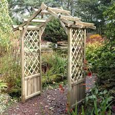 blooma elegant wooden garden arch