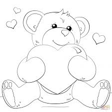 Coloring Pages : Hearts Colouring Pages Bears Printable Coloring ...
