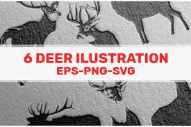 455x288 free vector cute santa claus elk and clipart and vector graphics. 6 Deer Illustration Black White And Sillhoute 784160 Illustrations Design Bundles In 2020 Deer Illustration Illustration Design Illustration