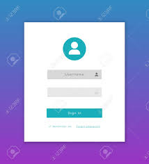 Vector Login Form Page Template On White Background For App