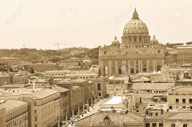 Vintage Carte Postale Représentant La Cité Du Vatican à Rome En Italie