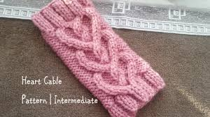Knitted Heart Pattern Magnificent Heart Cable Pattern Intermediate YouTube