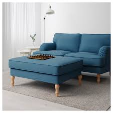 Ikea Living Room Furniture Sets Stocksund Ottoman Ljungen Blue Black Ikea Arafen